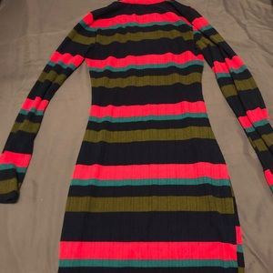 knitted multicolored dress